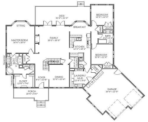 1st Floor image of Featured House Plan: BHG - 5511