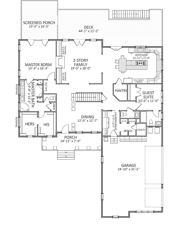 1st Floor image of Featured House Plan: BHG - 9325