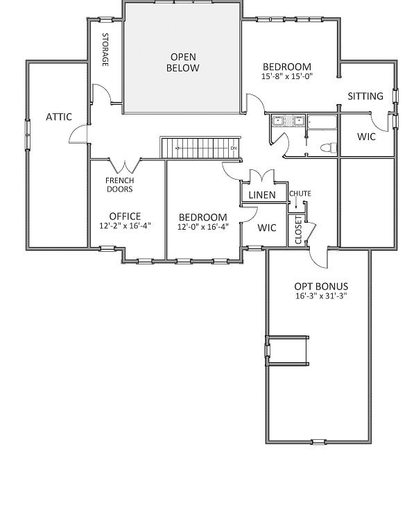 2nd Floor image of Featured House Plan: BHG - 9325