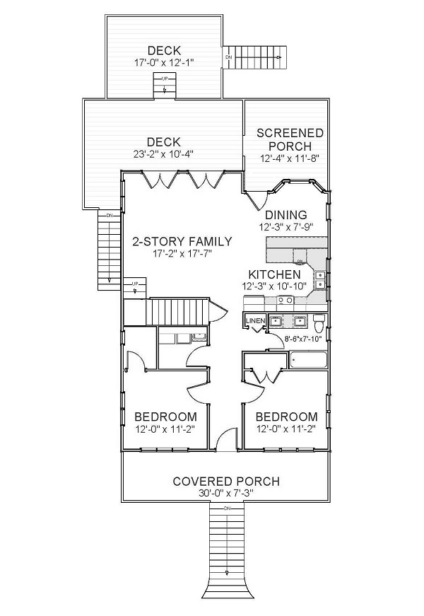 1st Floor image of Featured House Plan: BHG - 5532