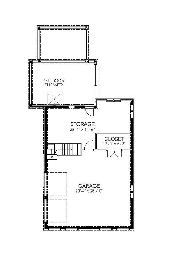 Basement Garage image of Featured House Plan: BHG - 5532