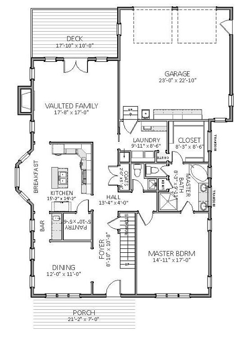 1st Floor image of Featured House Plan: BHG - 5512