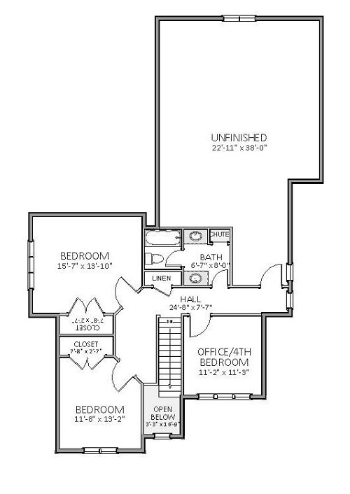 2nd Floor image of Featured House Plan: BHG - 5512