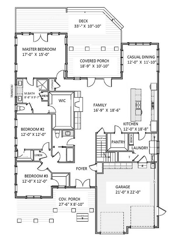 1st Floor image of Featured House Plan: BHG - 9754