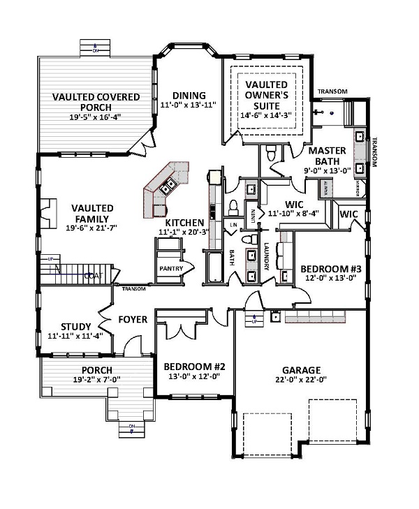 1st Floor image of Featured House Plan: BHG - 9757