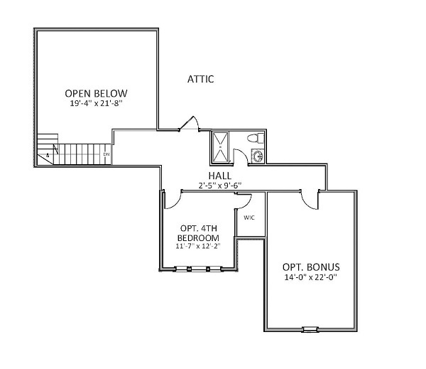 2nd Floor image of Featured House Plan: BHG - 9757