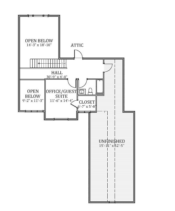 Second Floor image of Featured House Plan: BHG - 9389