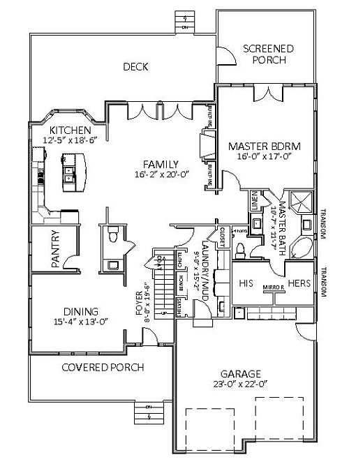 1st Floor image of Featured House Plan: BHG - 5514