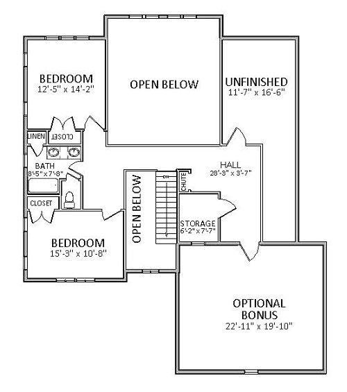 2nd Floor image of Featured House Plan: BHG - 5514