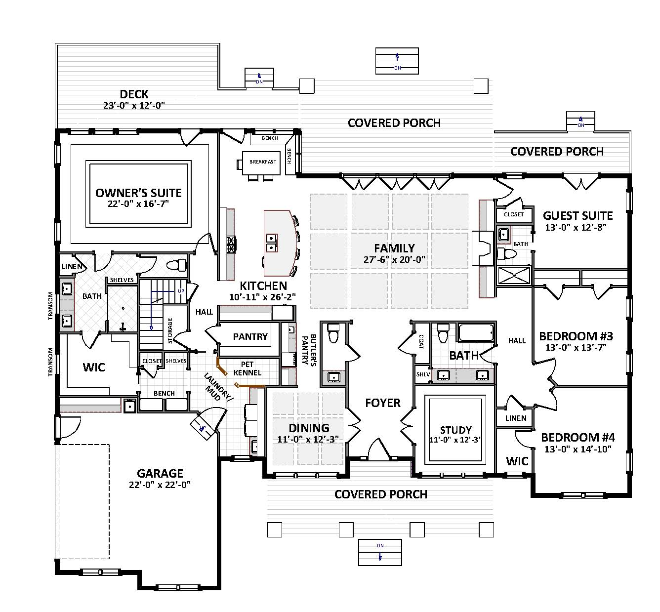 First Floor image of Featured House Plan: BHG - 4889