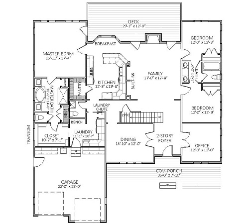 1st Floor image of Featured House Plan: BHG - 5518