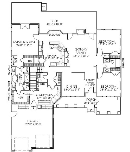 1st Floor image of Featured House Plan: BHG - 5519