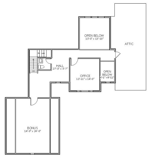 2nd Floor image of Featured House Plan: BHG - 5519