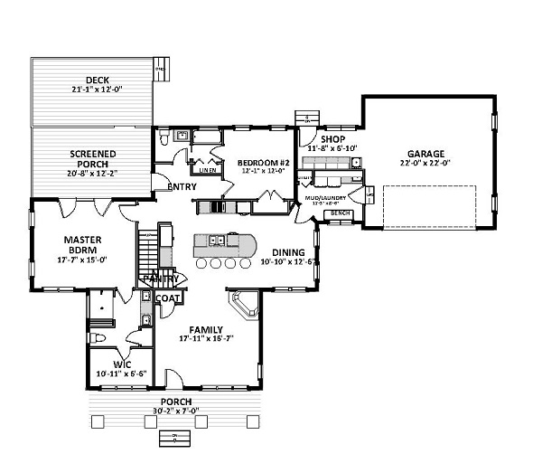 1st Floor image of Featured House Plan: BHG - 9786