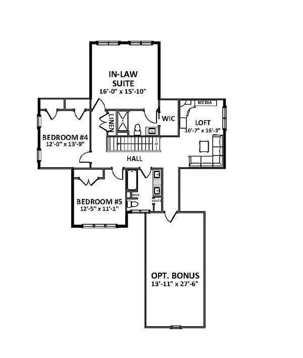 2nd Floor image of Featured House Plan: BHG - 9849