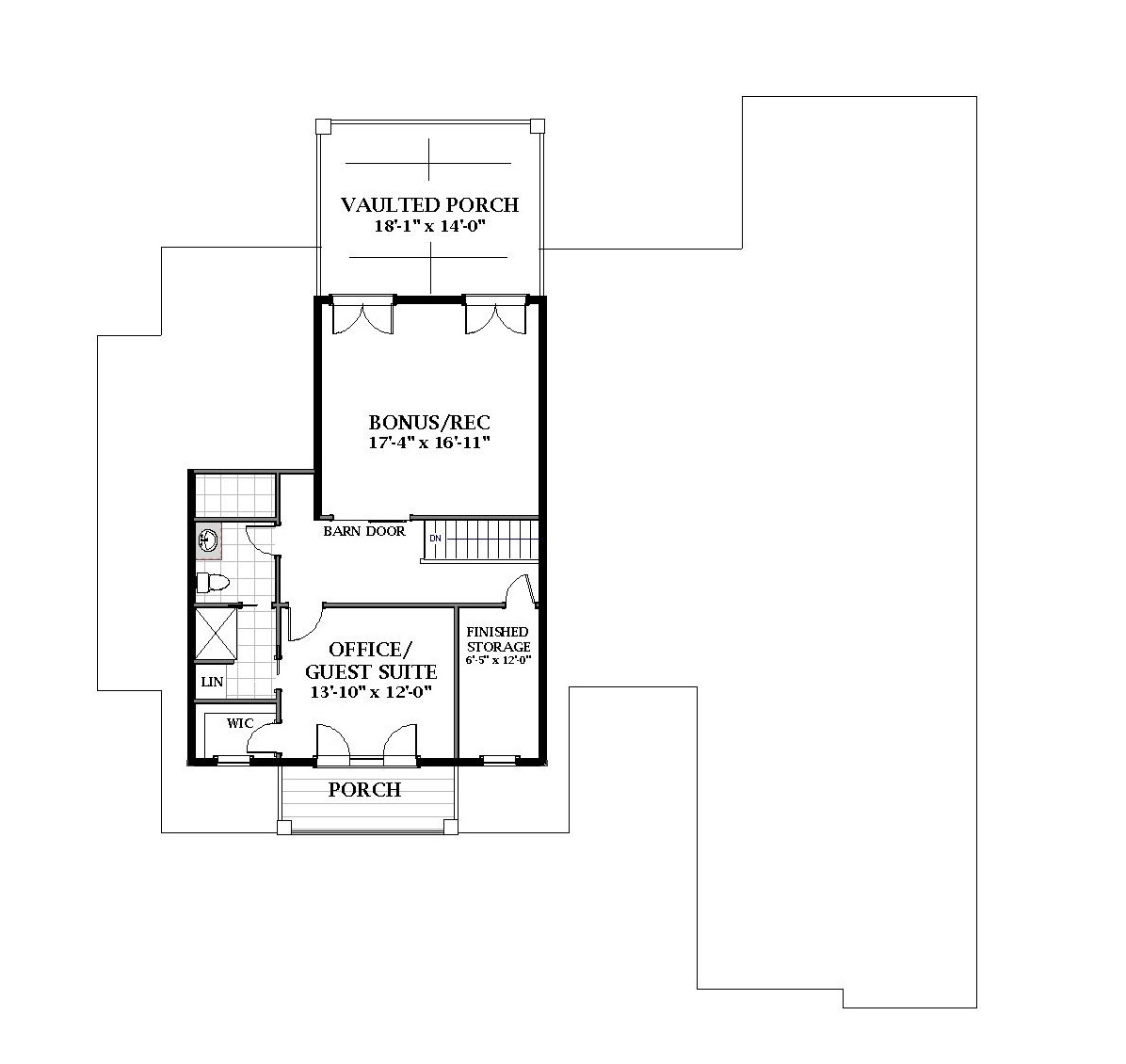 2nd Floor image of Featured House Plan: BHG - 7058