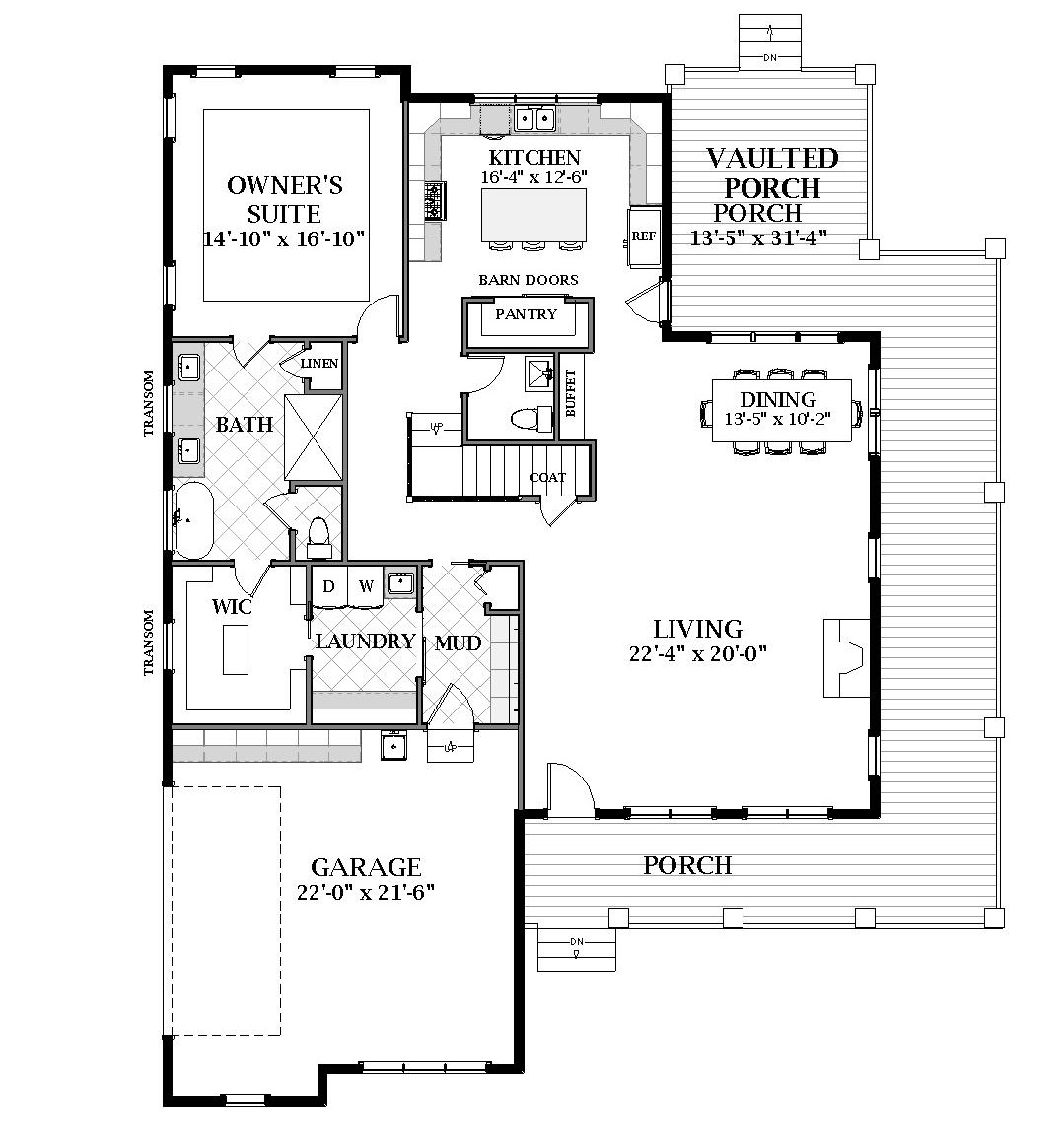 First Floor image of Featured House Plan: BHG - 7061