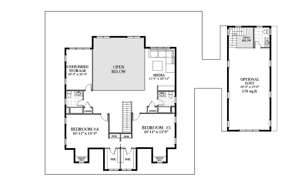 2nd Floor image of Featured House Plan: BHG - 7071