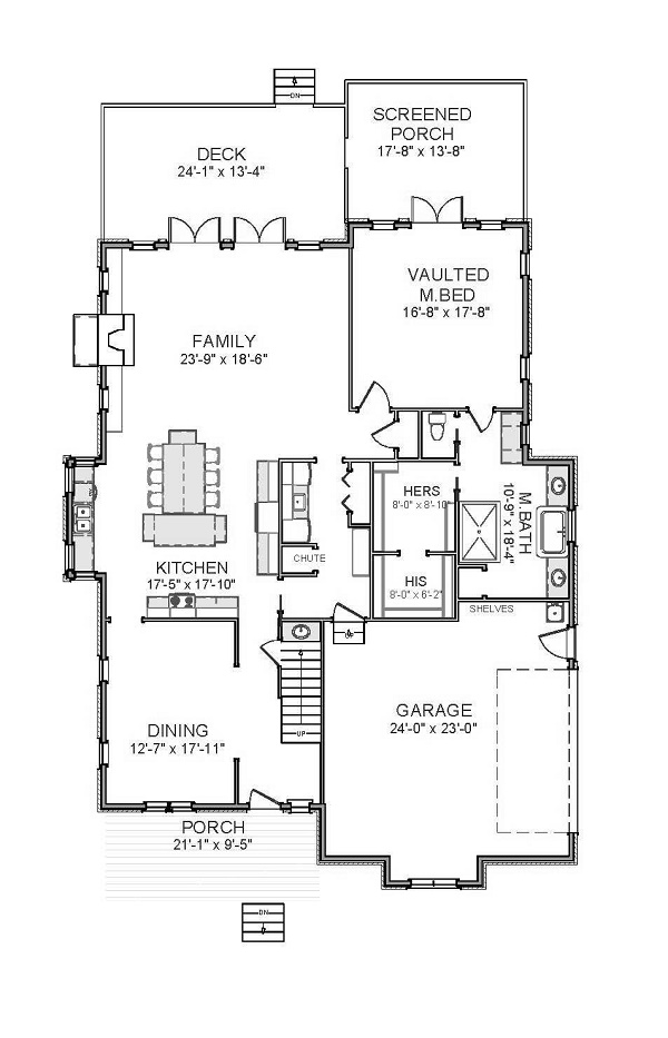 1st Floor image of Featured House Plan: BHG - 9827