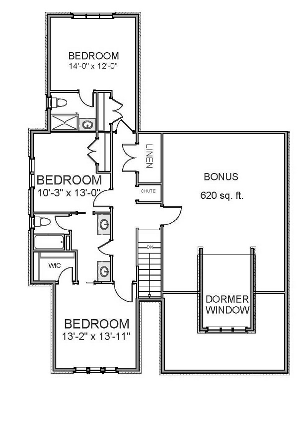2nd Floor image of Featured House Plan: BHG - 9827