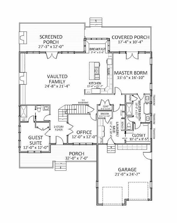 1st Floor image of Featured House Plan: BHG - 9760