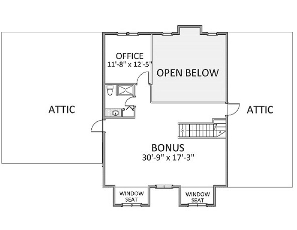 2nd Floor image of Featured House Plan: BHG - 9026