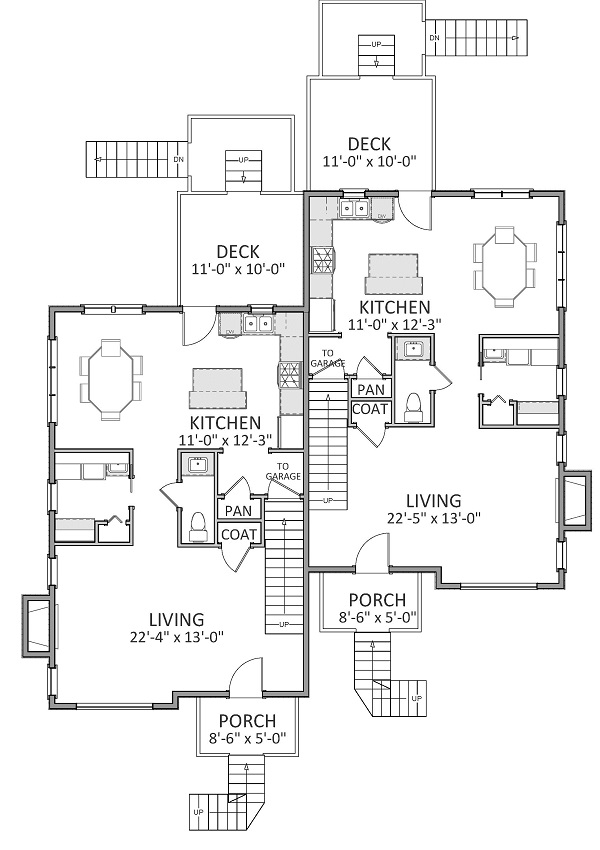 1st Floor image of Featured House Plan: BHG - 9234