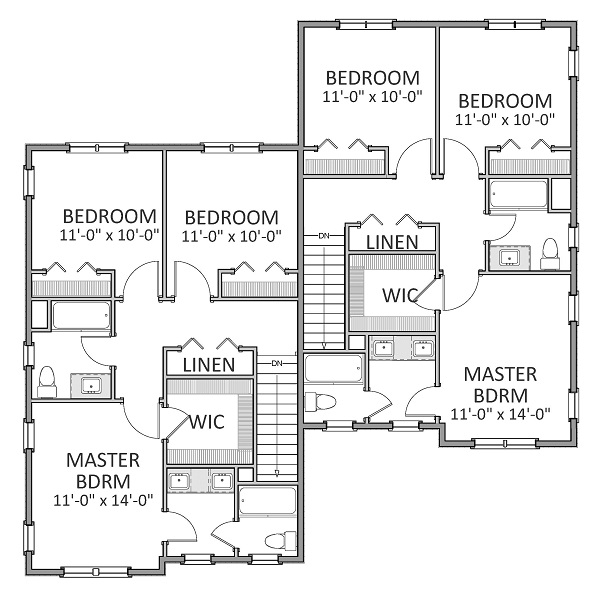 2nd Floor image of Featured House Plan: BHG - 9234