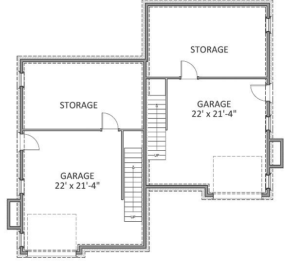 Basement Garage image of Featured House Plan: BHG - 9234
