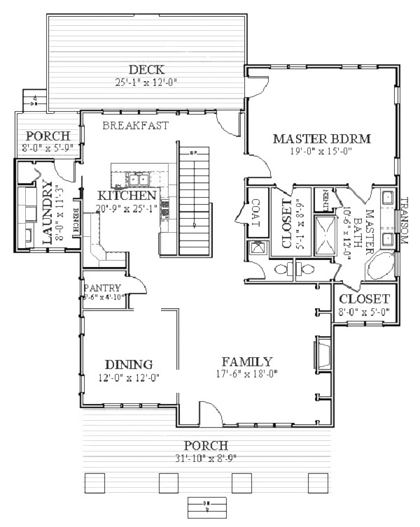 1st Floor image of Featured House Plan: BHG - 5552