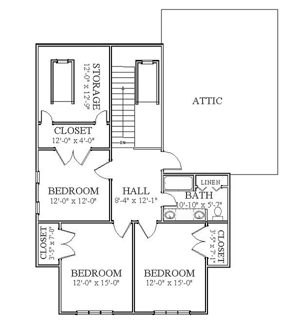 2nd Floor image of Featured House Plan: BHG - 5552