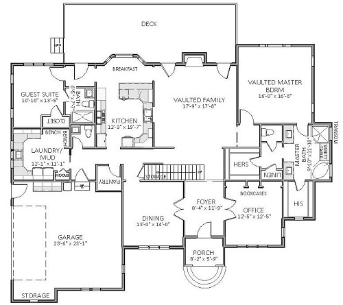 1st Floor image of Featured House Plan: BHG - 5513
