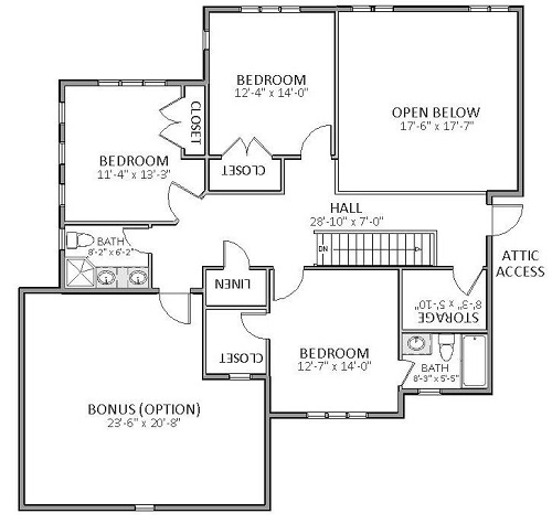 2nd Floor image of Featured House Plan: BHG - 5513
