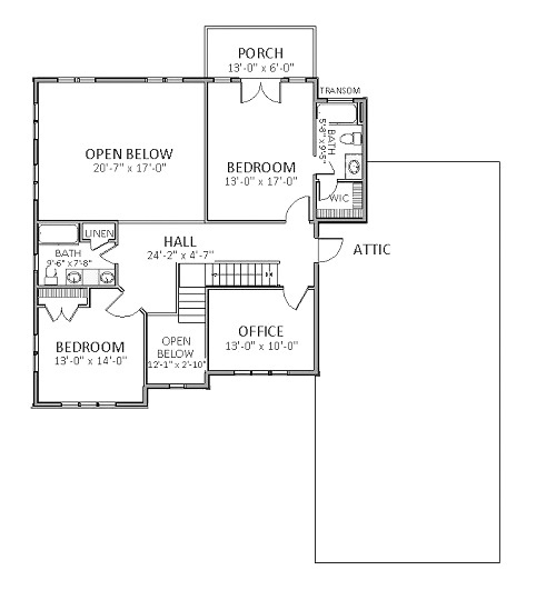 2nd Floor image of Featured House Plan: BHG - 6124