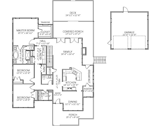 1st Floor image of Featured House Plan: BHG - 5571