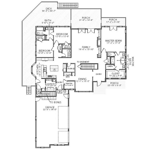 1st Floor image of Featured House Plan: BHG - 5568