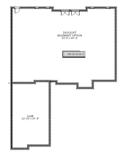 BASEMENT image of Featured House Plan: BHG - 5568