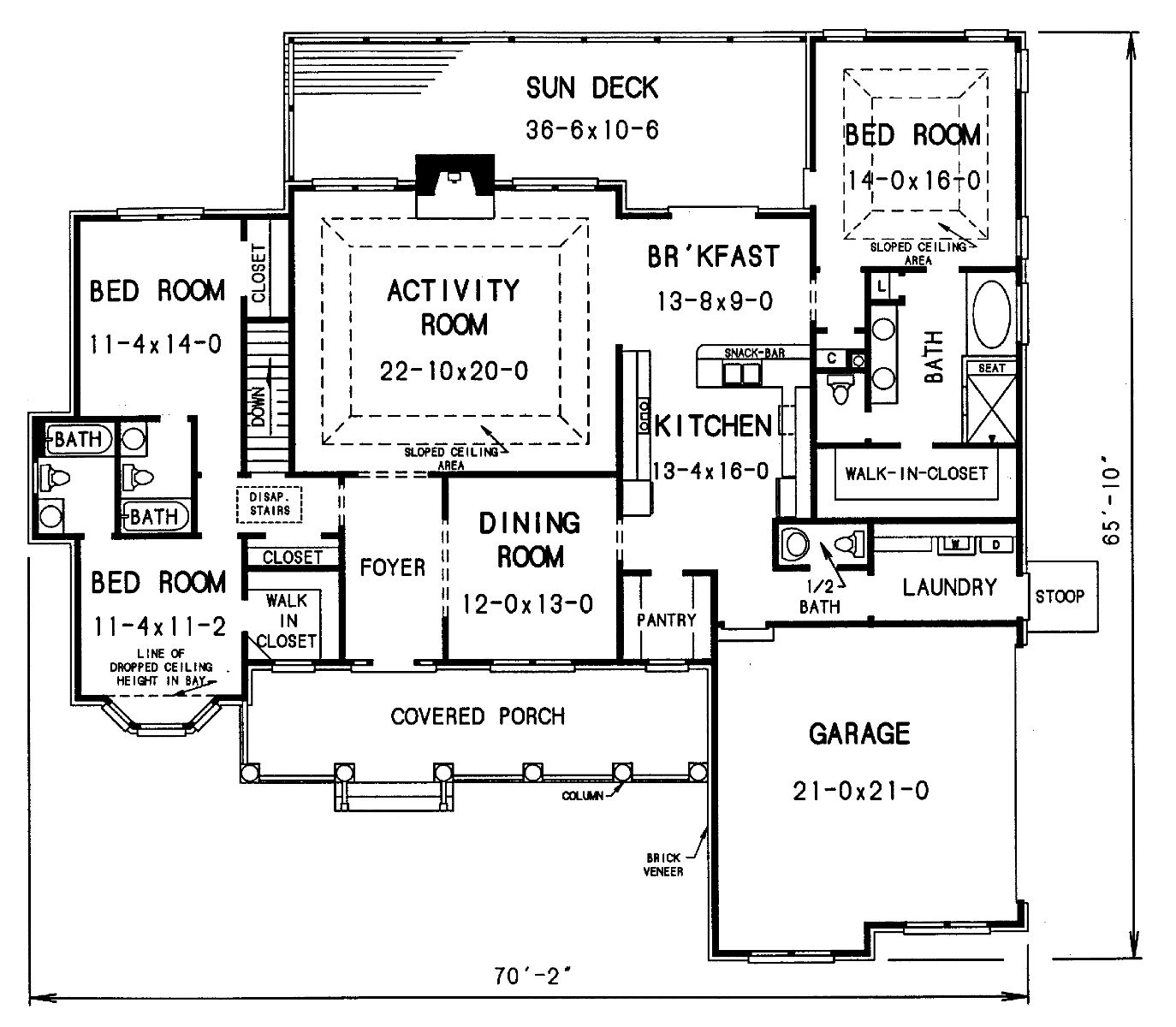 floor plan image of Featured House Plan: BHG - 4376