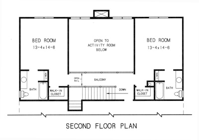 2nd floor plan image of Featured House Plan: BHG - 7720