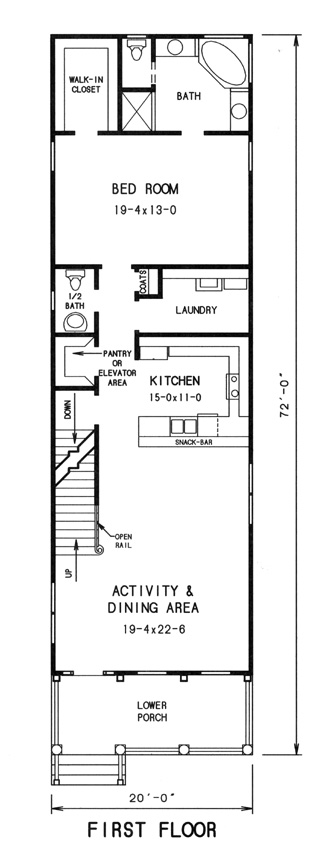 1st floor plan image of Featured House Plan: BHG - 7761