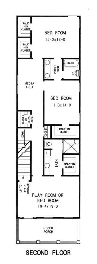 2nd floor plan image of Featured House Plan: BHG - 7761