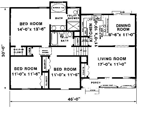 main and upper levels image of Featured House Plan: BHG - 1523