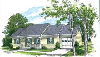 image of Southern One Car Garage House Plan