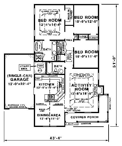 floor plan image of Featured House Plan: BHG - 1560