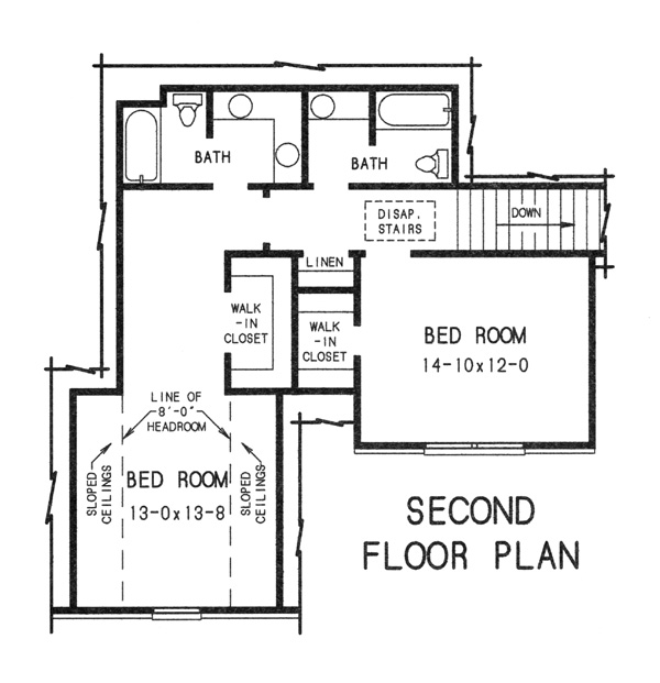2nd floor plan image of Featured House Plan: BHG - 7762