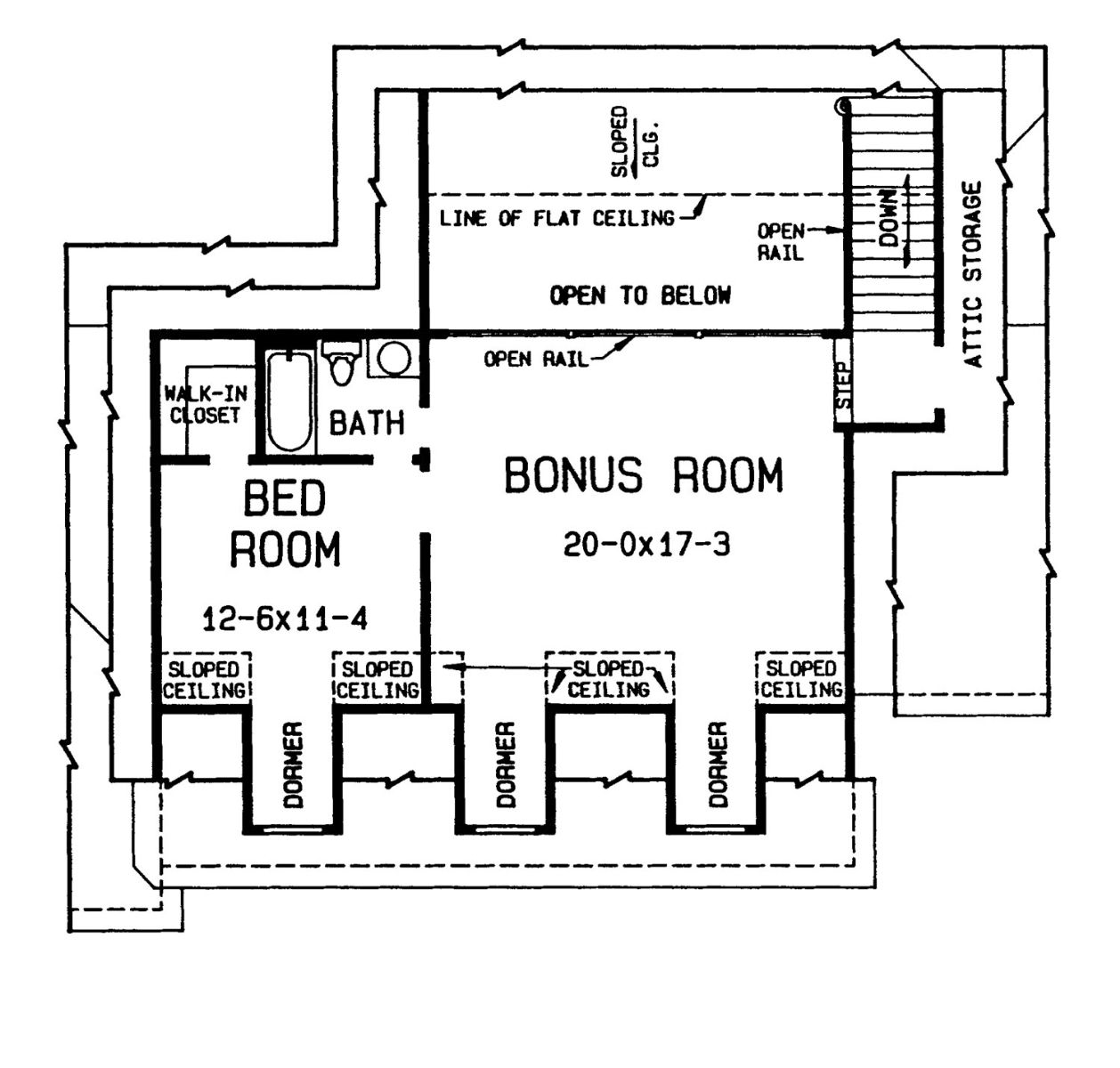 2nd floor plan image of Featured House Plan: BHG - 4378