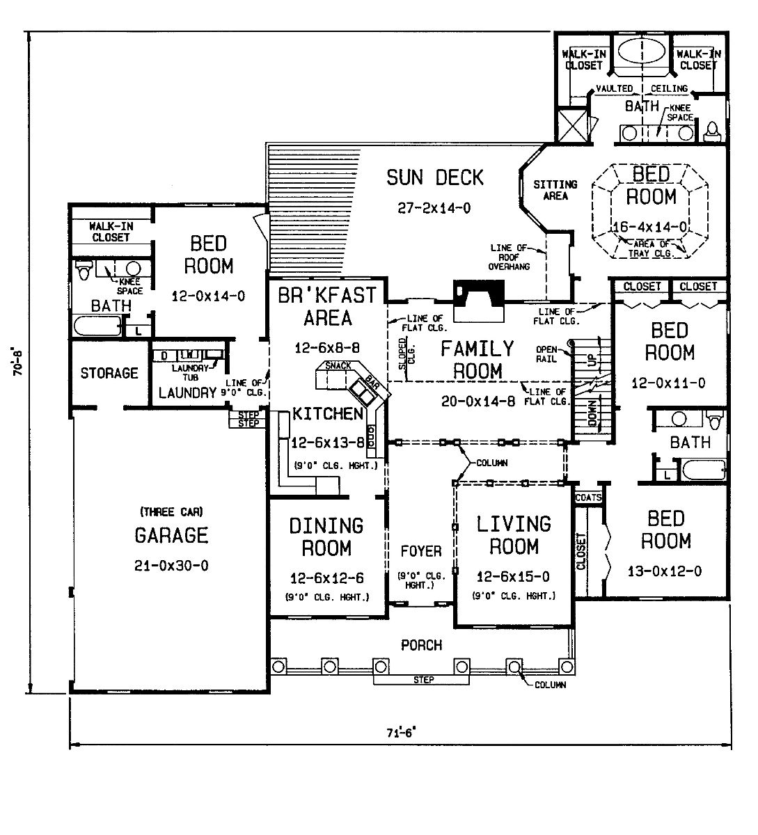 1st floor plan image of Featured House Plan: BHG - 4378