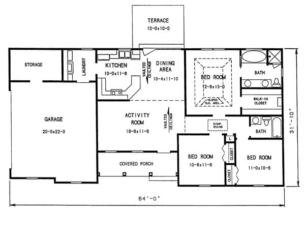 floor plan image of Featured House Plan: BHG - 1009
