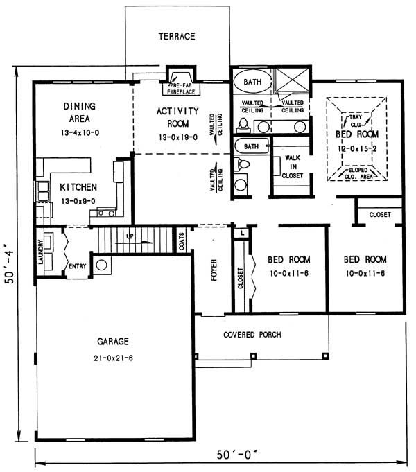 1st floor plan image of Featured House Plan: BHG - 3290