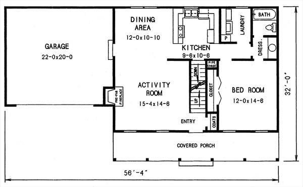 1st floor plan image of Featured House Plan: BHG - 2794